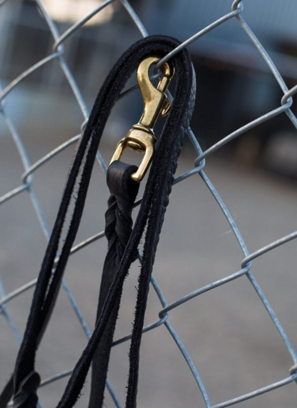Black Leather Dog Leash Made in Germany